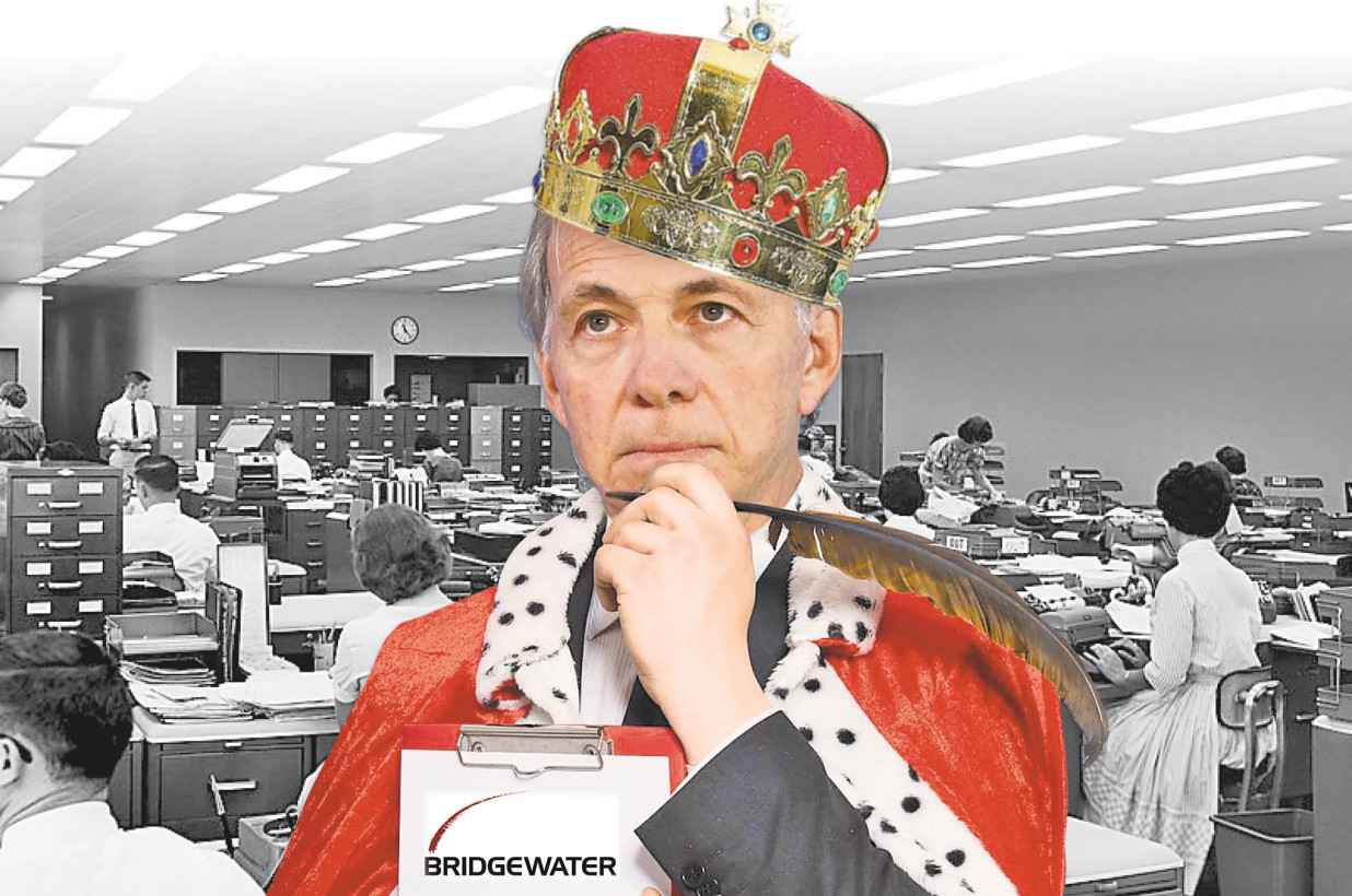 ray dalio dressed as king
