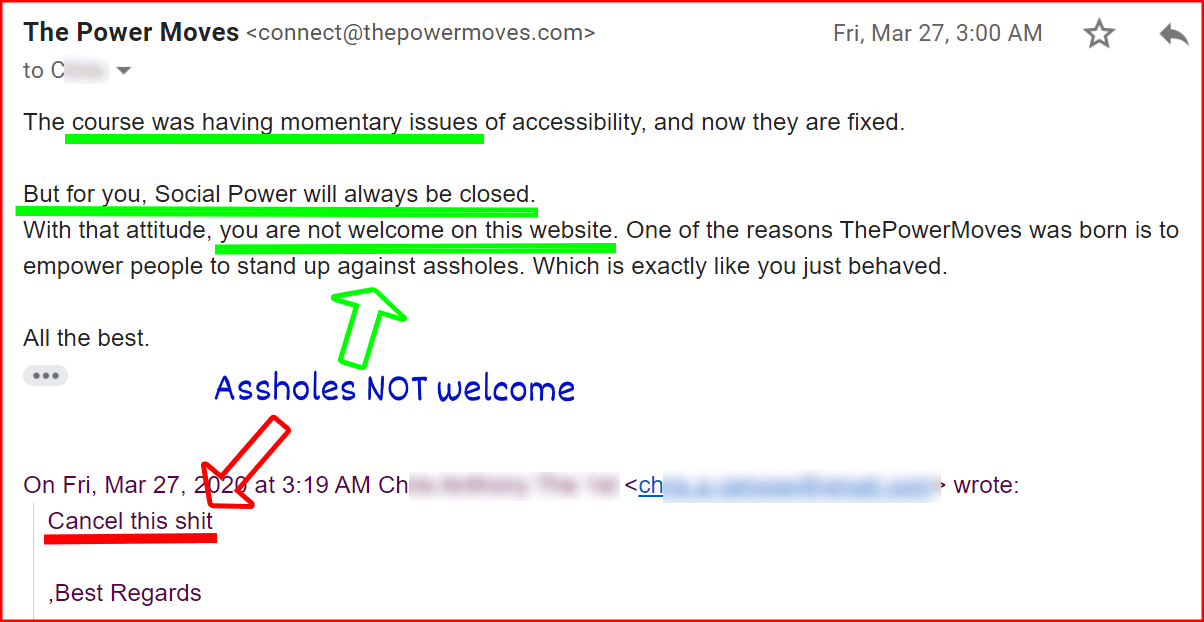 example of banned applicant to power university