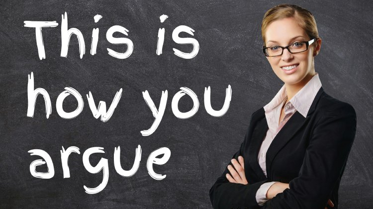 woman teaching how to argue