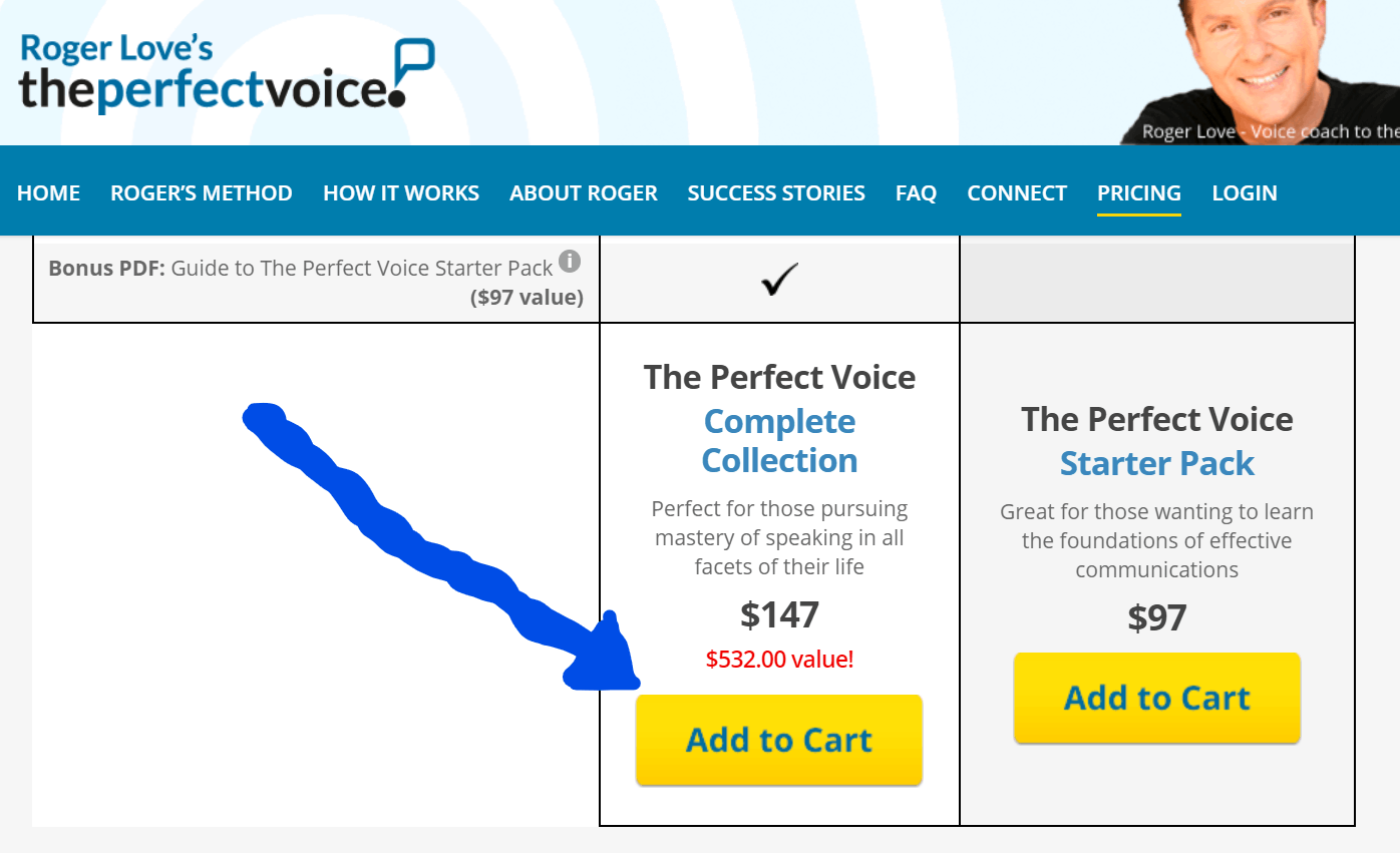 roger love the perfect voice cart