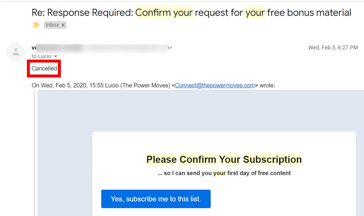 strange emails a business receives