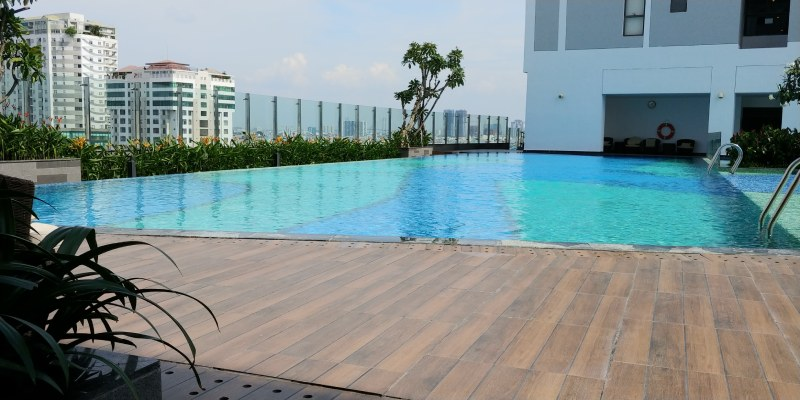 swimming pool rivergate residence saigon