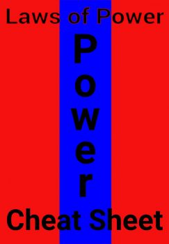 the 48 laws of power cheat sheet book cover