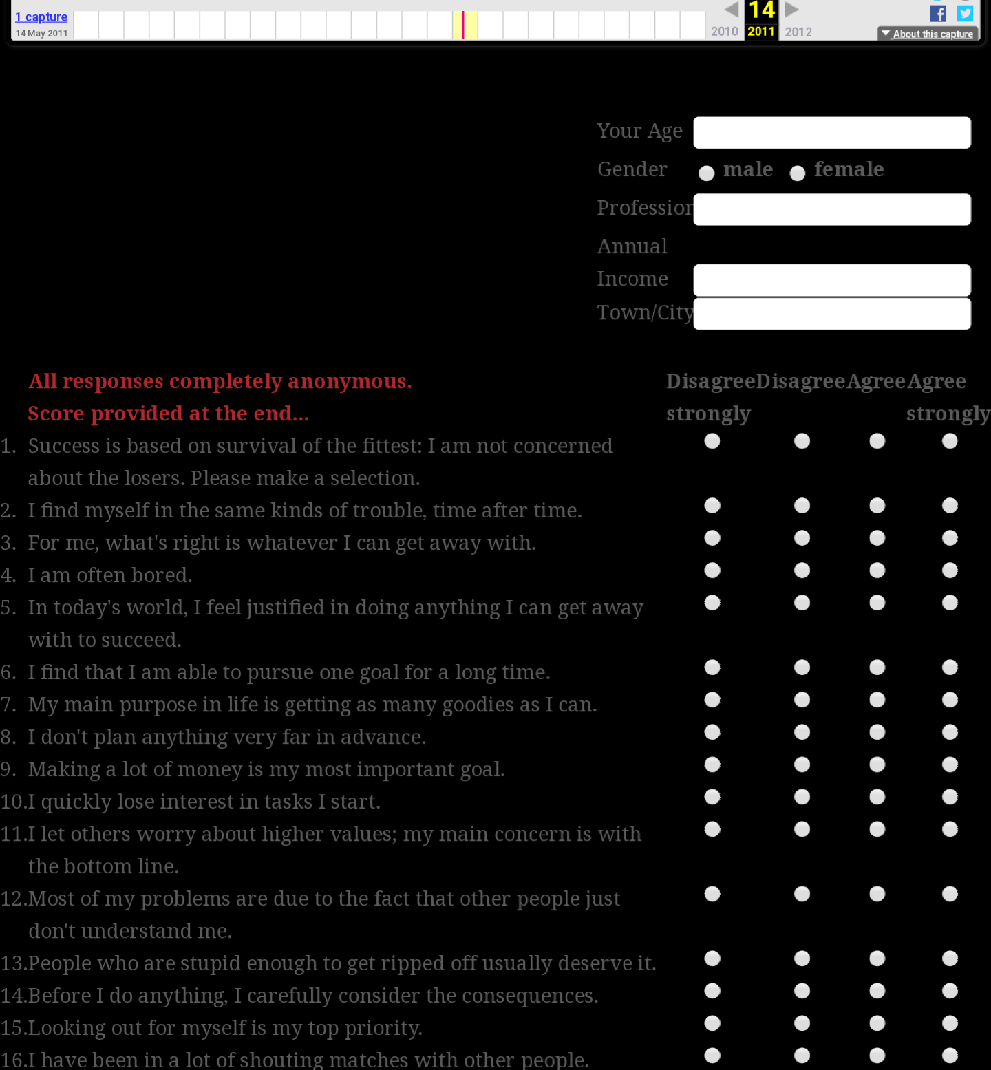 snapshot of the great British psychopath survey