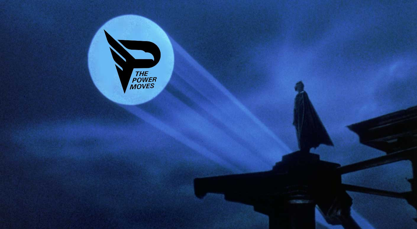batman with the power moves logo