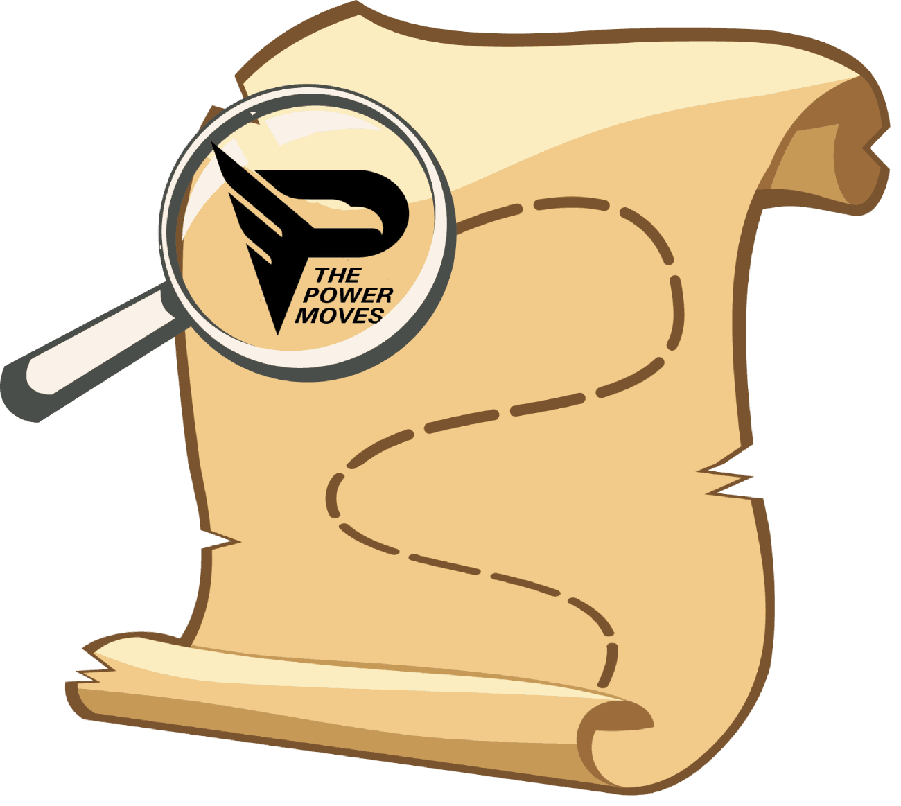 symbolic image of thepowerves.com sitemap as finding a treasure on a map