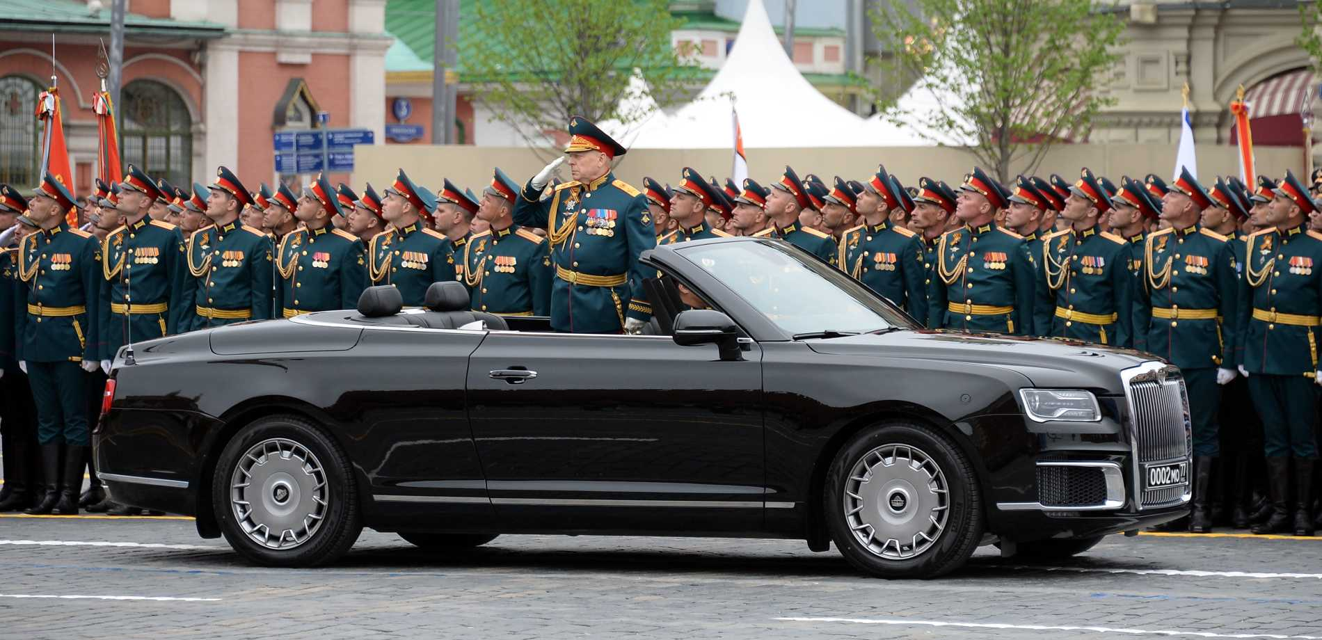 army general in military parade
