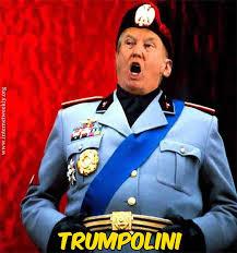 trump in mussolini clothes