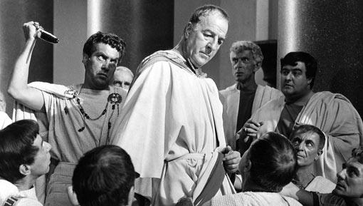 palace intrigue: brutus kills caesar